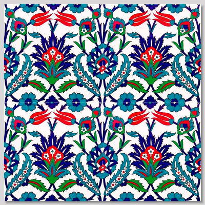 Continuous Floral Pattern  Wall Tiles  for kitchen or bathroom