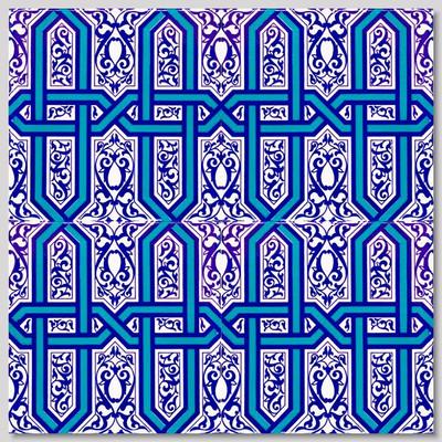 Continuous Design 4pc Wall Tile Pattern size: 40cm x 40xm