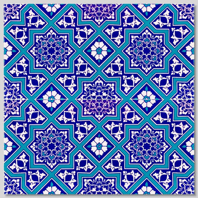Continuous pattern 4pc Turkish Wall Tile
