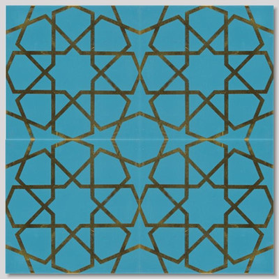 "Elaborate Pattern 4pc layout 40x40cm (16x16"")"