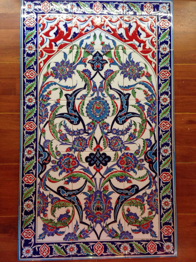 60x100cm handpainted Iznik Art Wall Mural