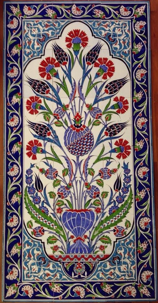 60x120cm  Iznik Floral Art on Ceramic For wall