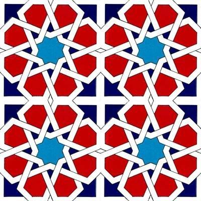 geometric patter wall tiles continuous design