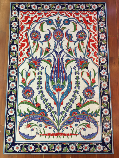 Iznik Art Ceramic Tile Panel