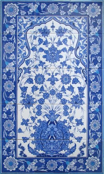 60x100cm Iznik Art  Ceramic Tile Backsplash