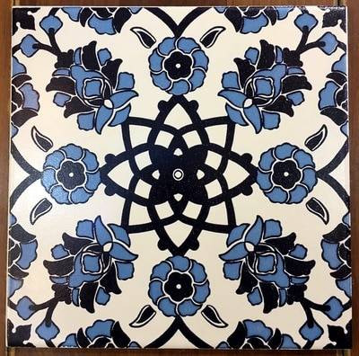 Continuous Floral Pattern Ceramic Floor tile from ShopTurkey