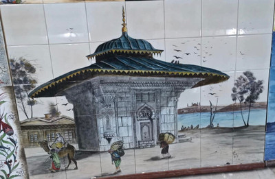 140x100cm scenic art tile mural