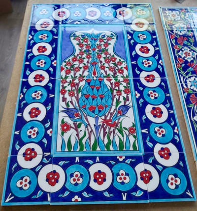 40x60cm hand painted ceramic wall tile mural