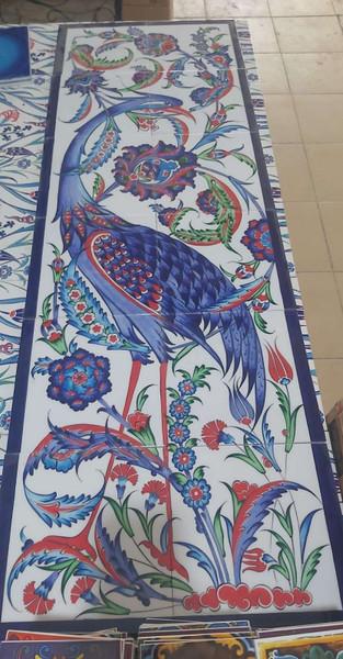 12pc ceramic wall mural Finest Iznik Art backsplash for kıtchen or bathroom 40cm x 120cm