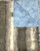 Delore Baby Arctic Fox Fur/ Blue Luxe Baby Blanket