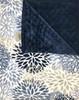 Delore Baby Blue Blooms/ Navy Minky Dot Baby Blanket