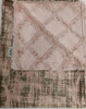 Delore Baby Rosewater Vintage Suede/ Rosewater Embossed Lattice Baby Blanket