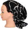 Delore Womens Black/White Giraffe Pre-Tied Bandana