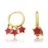 LMTS Girls Hot Pink Stars Dangle Leverback Earring