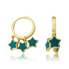LMTS Girls Turquoise Stars Dangle Leverback Earring