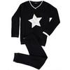 Noggi Boys Ribbed Furry Star Cotton Pajamas