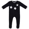 Noggi Boys Ribbed Furry Star Cotton Stretchie