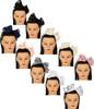 Dacee Girls Chiffon Layered Bow Headband - C1343