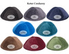 Yarmulka w/ Embroidery - Name with Big First Letter Leather