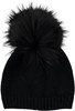 Black/Black Pompom