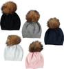 Baby Solid Knit Beanie w/ Basic Pompom - HT-BB9
