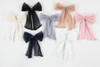 Accordion Pleated Tulle Bow Large Clip