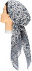 Riqki Mini Flowers Navy/Mauve Long Tails Pre-Tied Bandana - Y1220