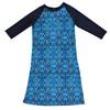 Girls Geo Blue/Navy Swim Dress Cover up