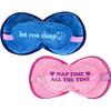 Gradient Puffer Travel 2-in-1 Pillow Eye Mask