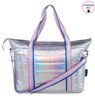 Top Trenz Puffer Tote Bag Iridescent with Purple Sweetness Strap