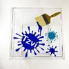 Vinyl Paint Splatter Clear Box