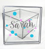 Girls Name With Dots Clear Box