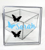 Girls Name With Butterflies  Clear Box