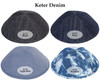 Yarmulka w/ Vinyl - Initial In Double Layered Shapes
