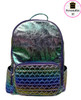 Bari Lynn Iridescent Heart Backpack - BLIHB