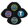 Yarmulka w/ Vinyl  Name On Design Circle