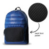 Navy Puffer Backpack with Mesh Pocket