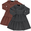 Girls Striped Tier Dress