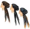 Women Lurex Leopard Pre-tied Headscarves