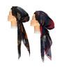 Women Lurex Leaves Pre-tied Headscarves