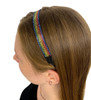 Women's Elastic Rainbow Diamond Headband-EHB20