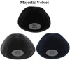 Yarmulka w/ Vinyl - Initial W/ Double Outline With Horizontal Reverse