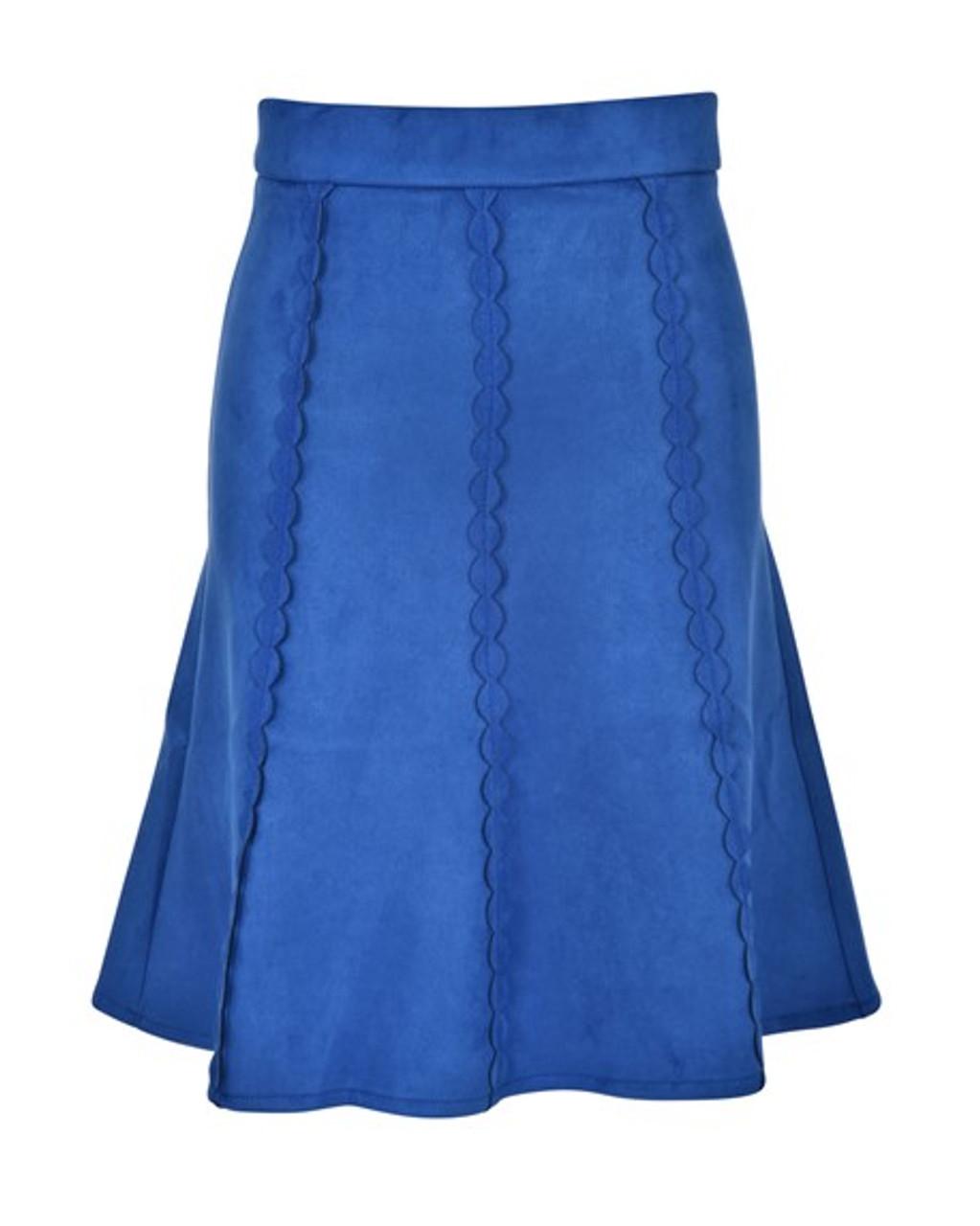 BGDK Suede Kids Panel Skirt