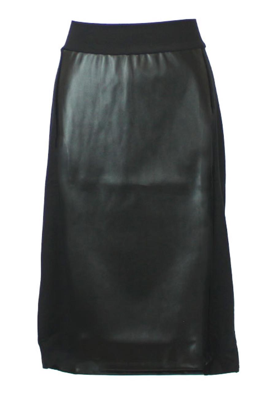 Kiki Riki Women's Leather Panel Skirt