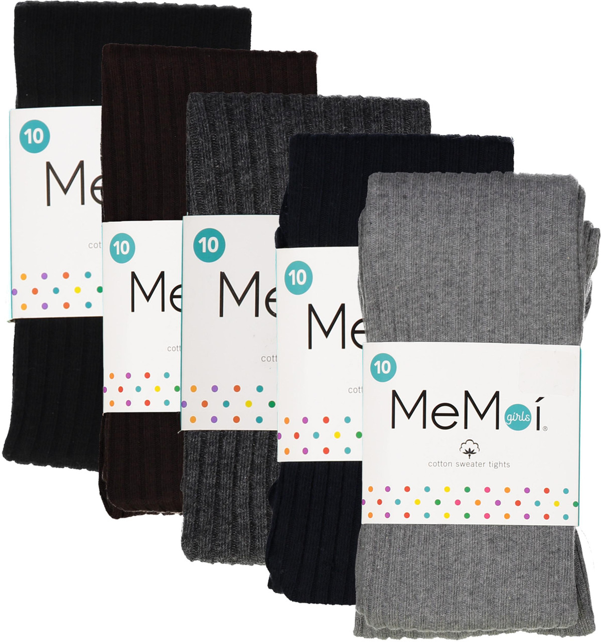 Memoi Girls Cotton Ribbed Sweater Tights