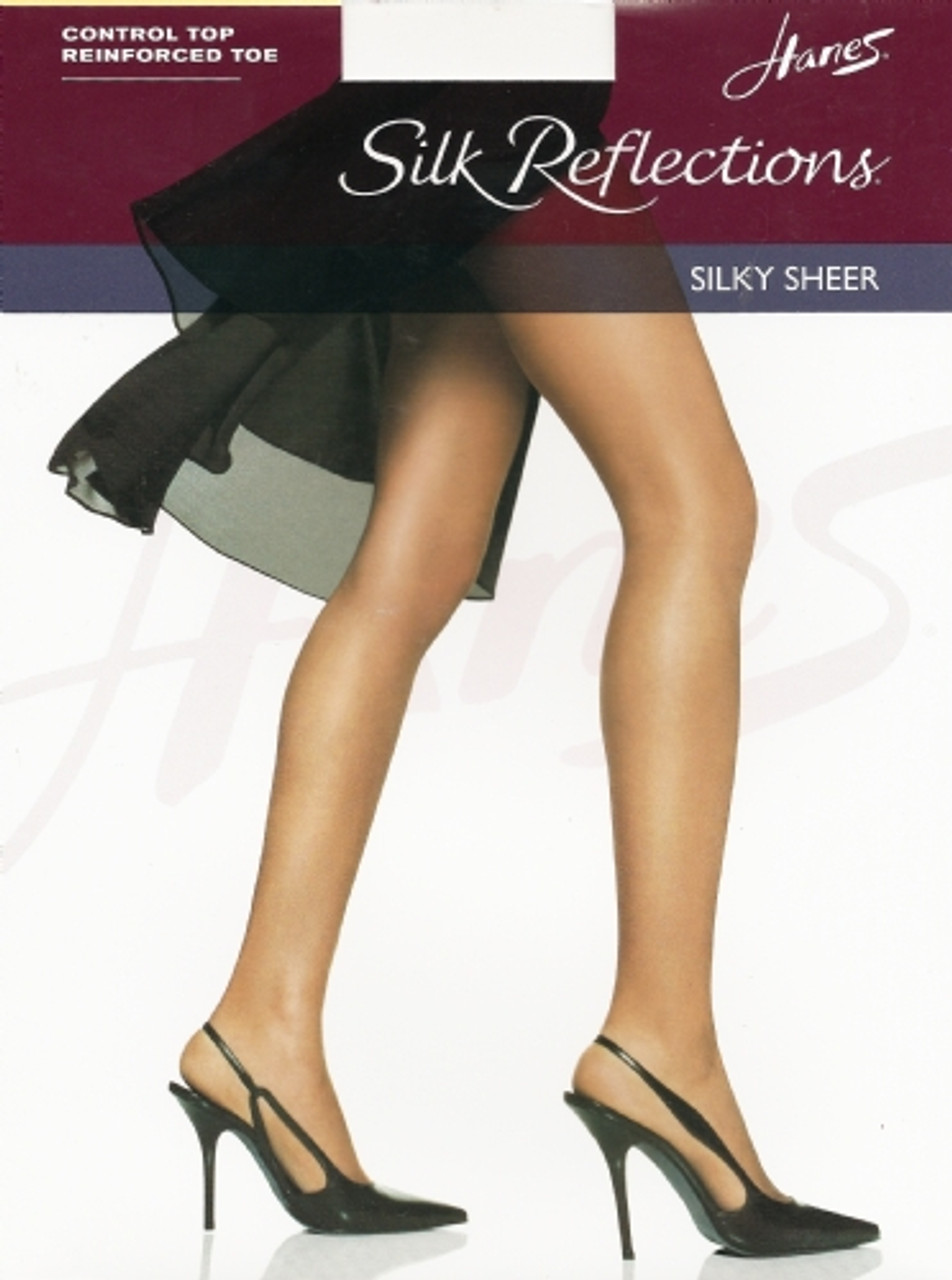 Hanes Silk Reflections Silky Sheer Control Top Reinforced Toe Pantyhose