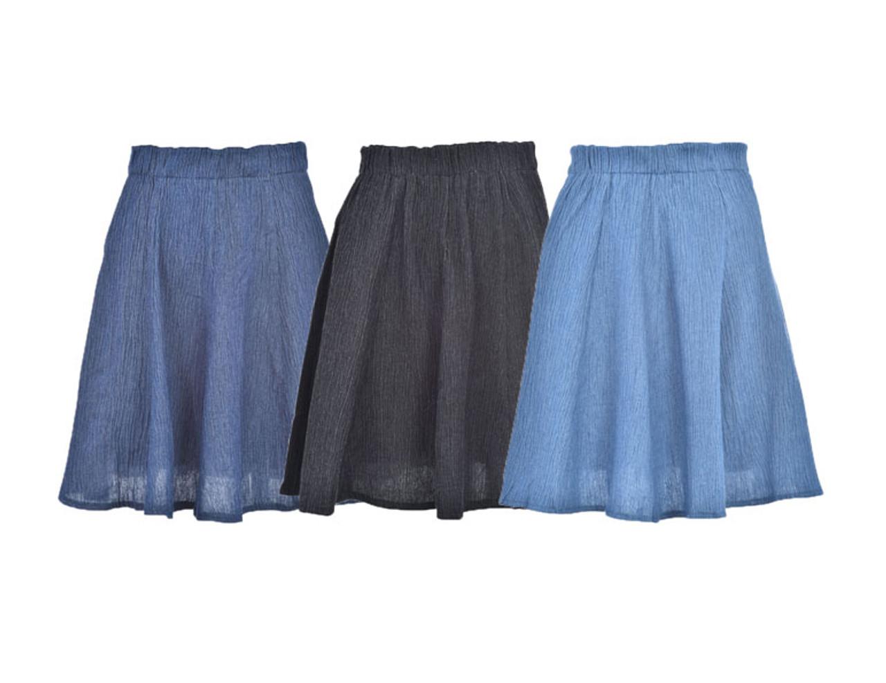 BGDK Girls Patterned Denim Skirt