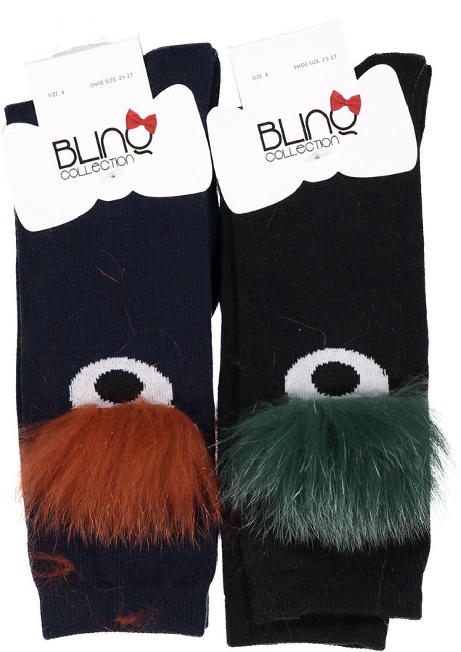 BlinQ Fur Eye Knee High