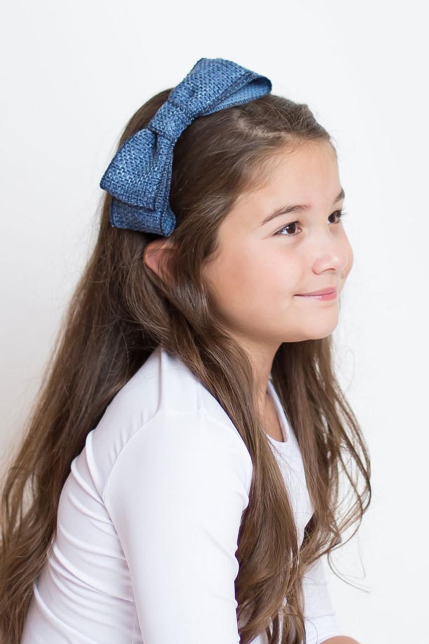 Riqki Tweed Bow Headband