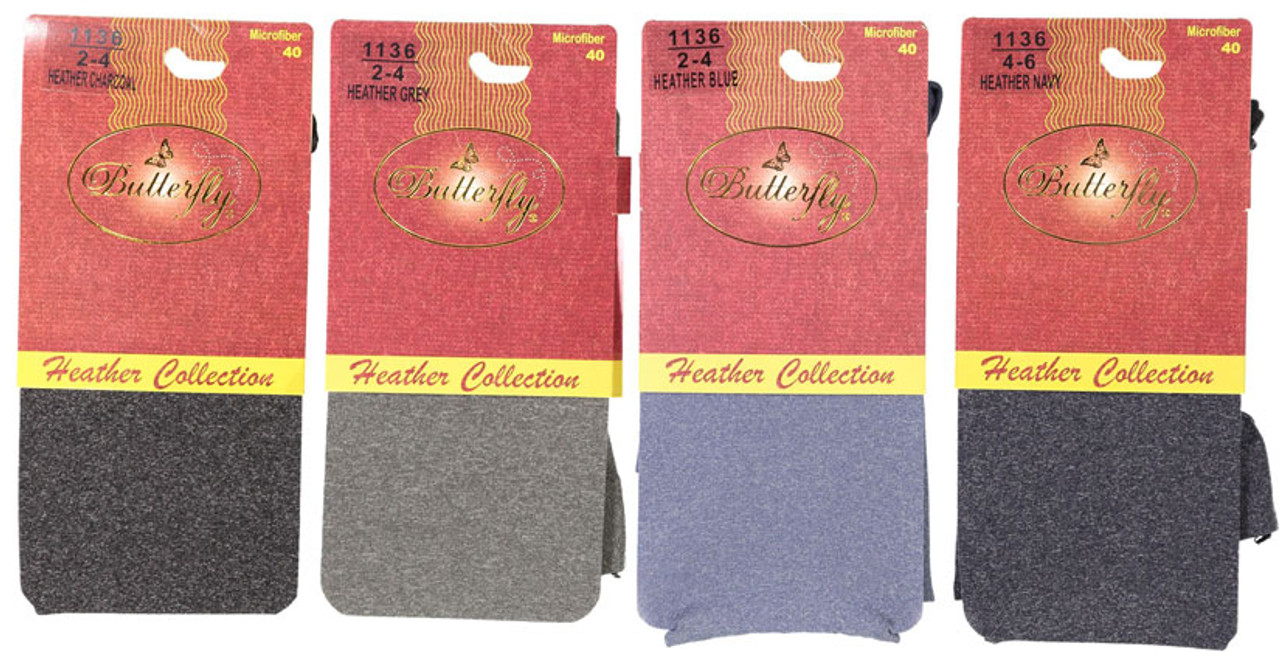 Butterfly Kids Microfiber 40 Heather Tights